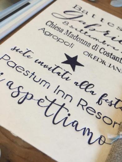 invito battesimo letterpress