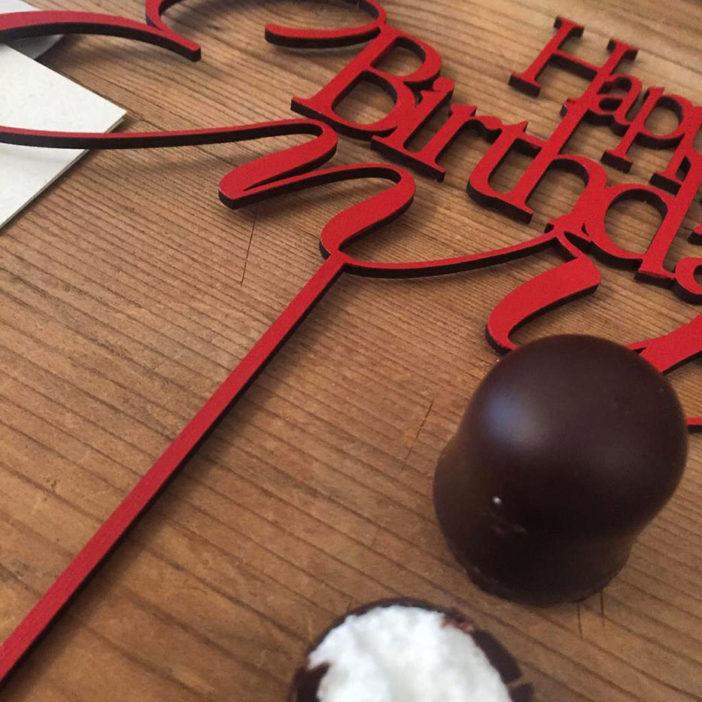cake topper rosso