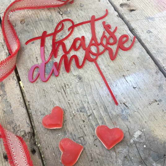 cake topper amore